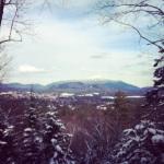 Hiking near Lake Placid, N.Y.